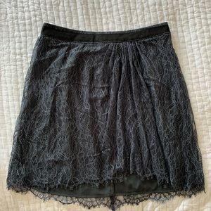 Club Monaco net fabric skirt